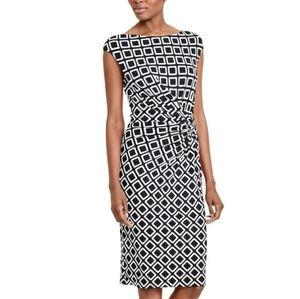 Lauren Ralph Lauren Geometric Sheath Dress